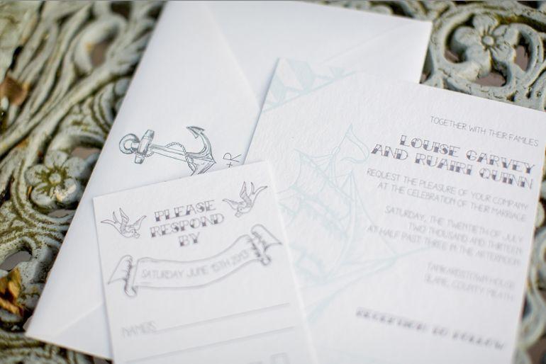 Nautical Theme Wedding Invite