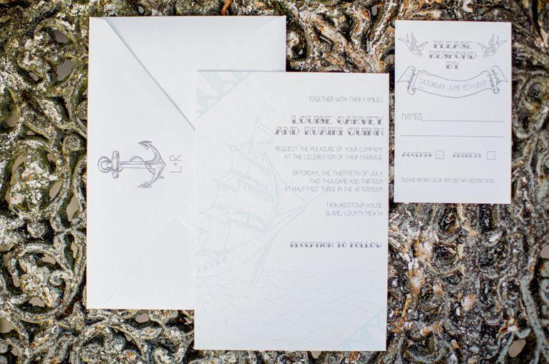 Sea Side Theme Wedding Invitation