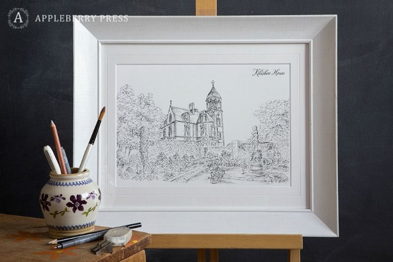 Pen Sketch Wedding Invitation Kilashee House