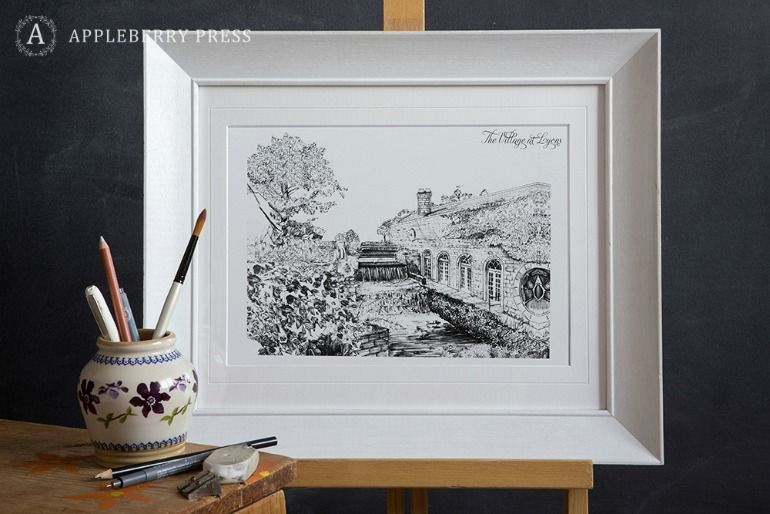 Pen Sketch Wedding Invitation The Village At Lyons