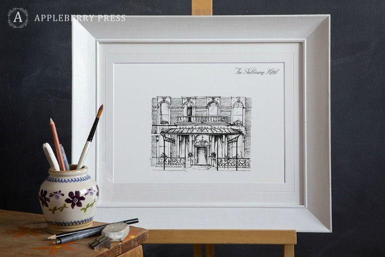 Pen Sketch Wedding Invitation The Shelbourne Hotel(1)