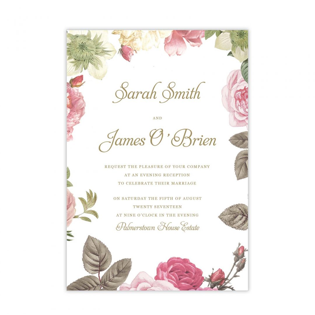 Botanical Evening Invitation