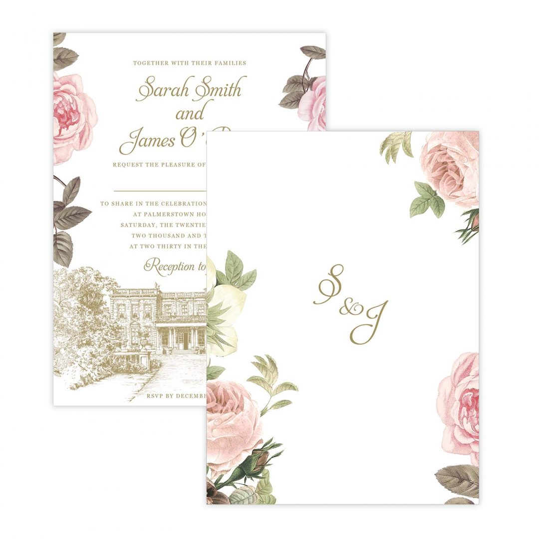Botanical Invitation Backing
