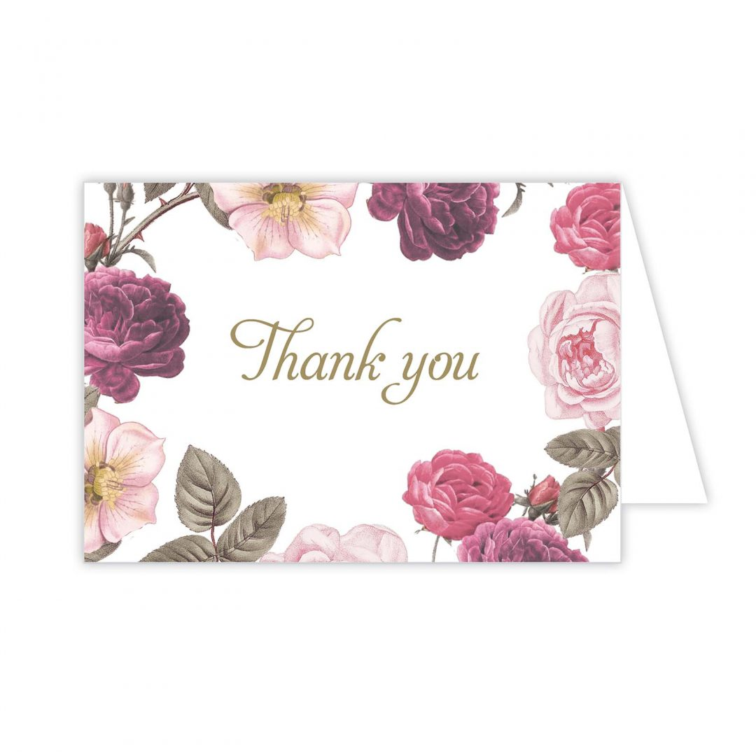 Botanical Invitation Thank You Card