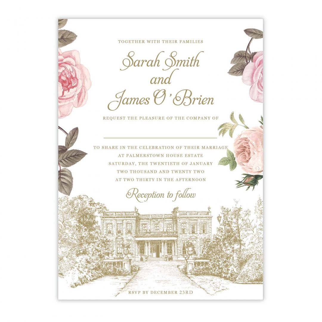 Botanical Venue Wedding Invitation