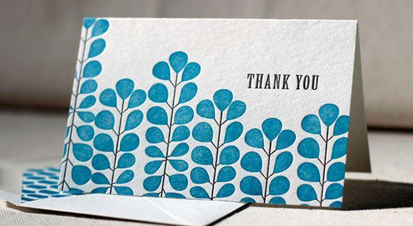 Jade Thank You Card