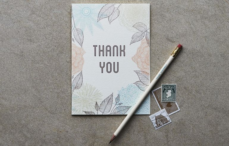 Top Tips Wedding Thank You Cards