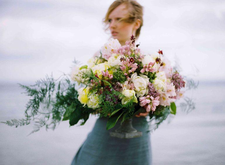 Beach Wedding Floral Styling, Bridal Bouquet