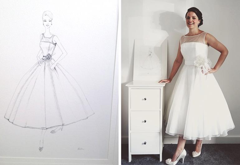 Wedding Dress Portrait Sketch(1)