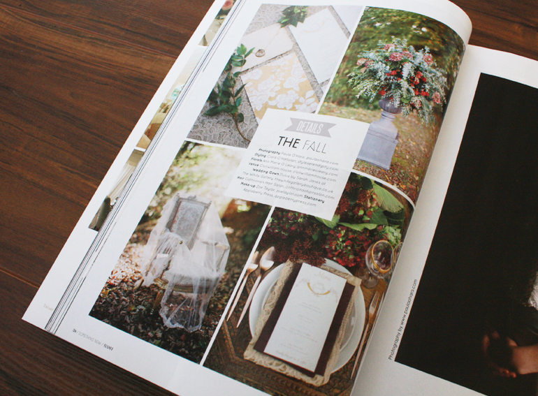 Bash Magazine Issue 4, Autumn Wedding Stationery Inspiration