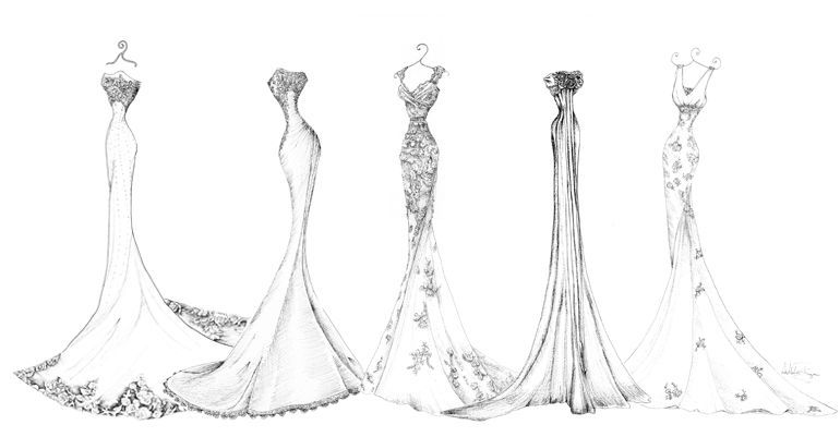 Pen And Ink Dress Portraits Lineup