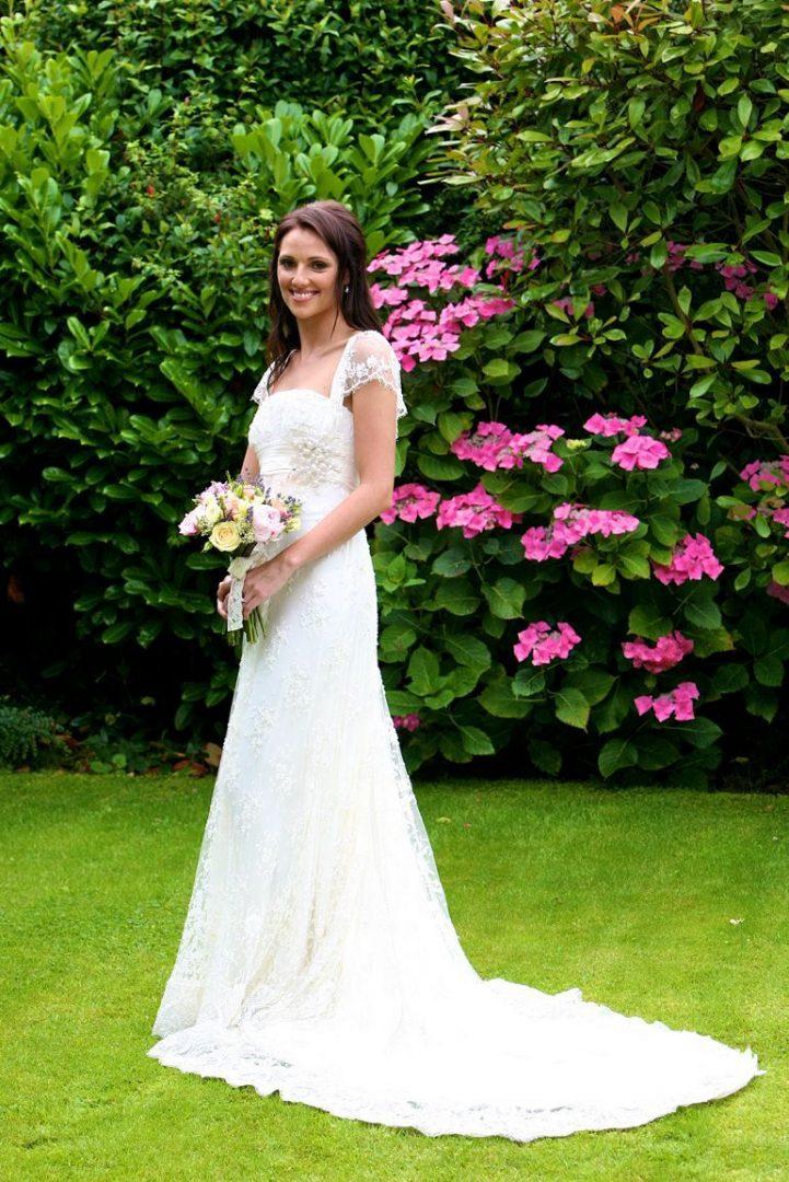 Lace Wedding Dress, Wedding Dress Portrait