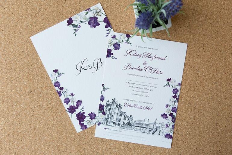 Cabra Castle Venue Illustration Sweet Florals