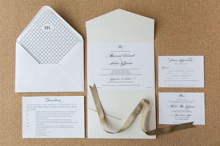 Elegant Monogram Invitation Inspiration