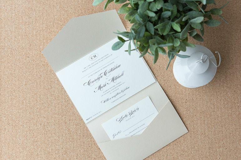 Elegant Pocketfold Invitations