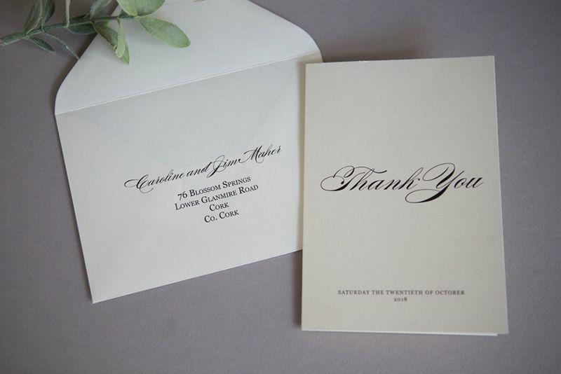 Elegant Thank You Cards For Wedding