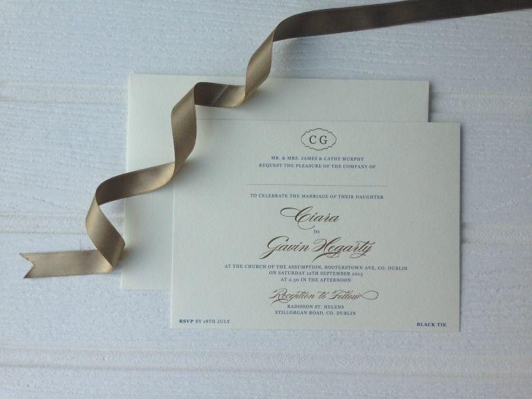 Foil Monogram Invitations