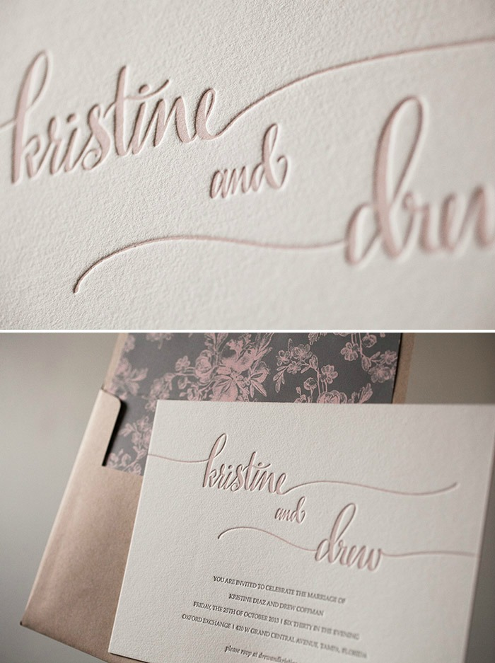 Hand Calligraphy Wedding Invitations(2)