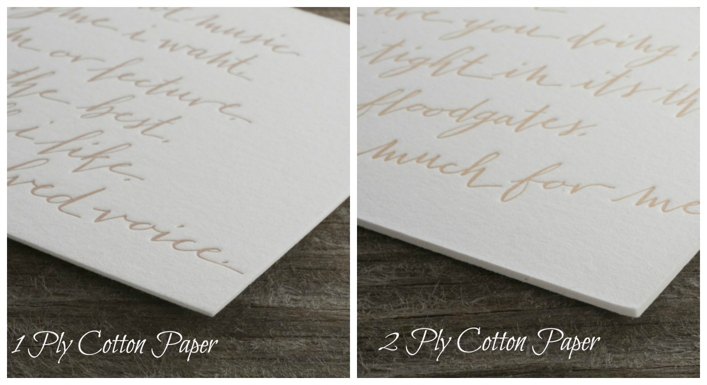 Letterpress Wedding Invitations Ireland Cotton Paper(1)