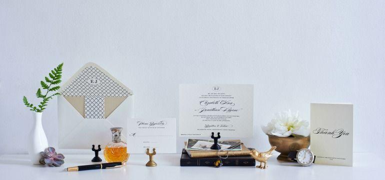 Monogram Invitation For Wedding