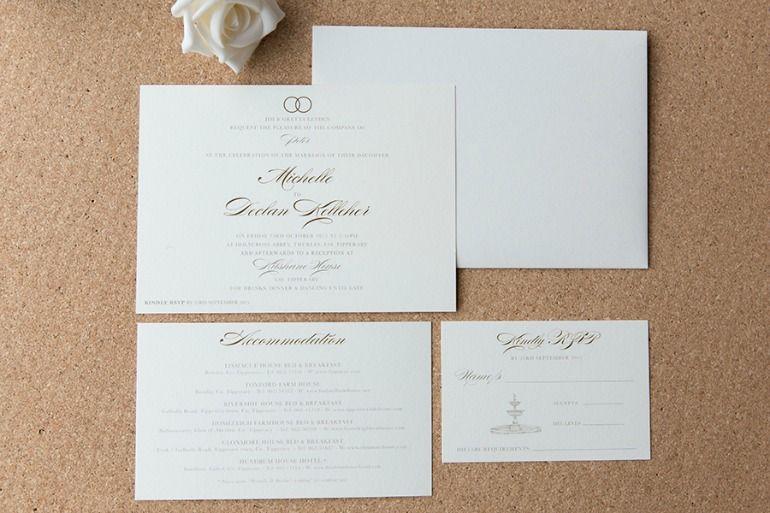 Wedding Invitations With Eternity Monogram