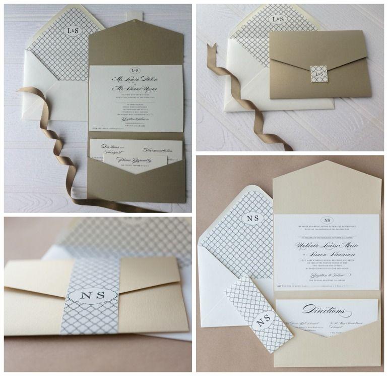 Wedding Pocket Fold Invitations, Envelope Seals