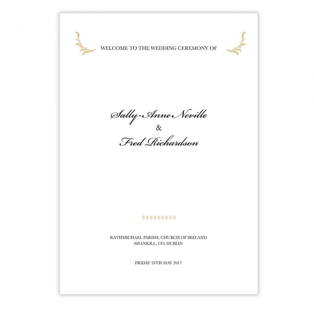 Black Tie Ceremony Booklet