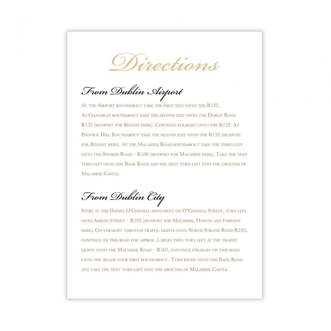 Black Tie Details Card