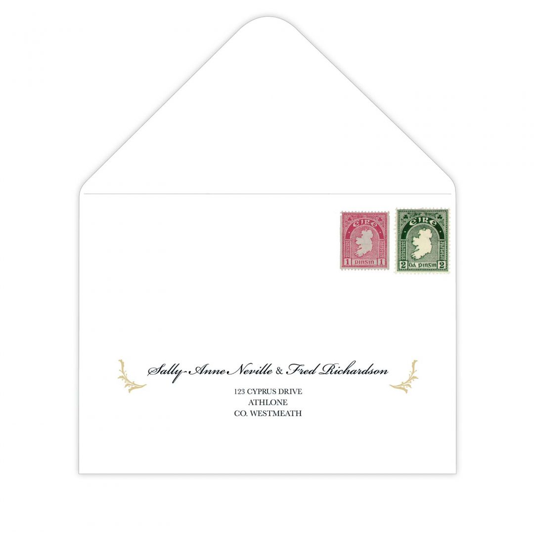 Black Tie Envelope Address