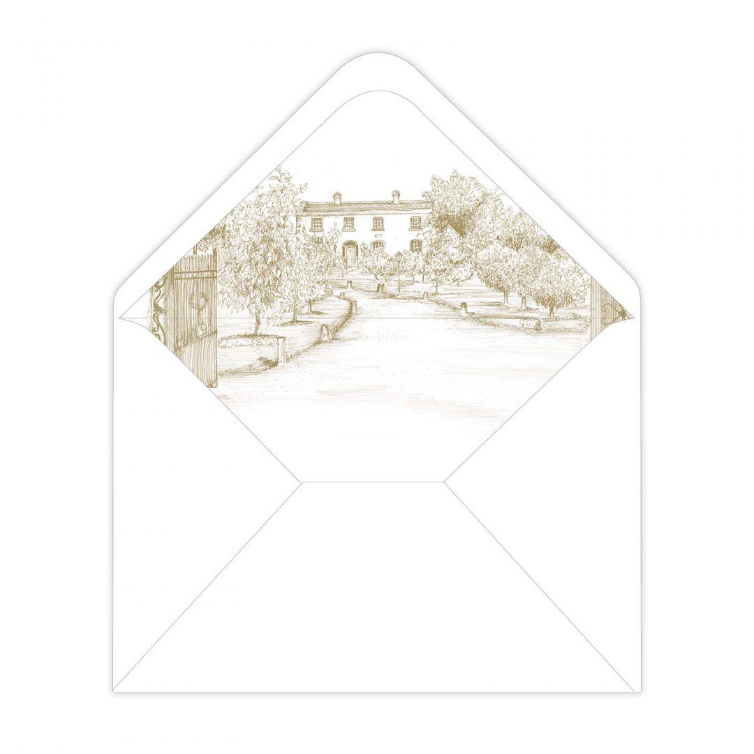 Black Tie Envelope Liner