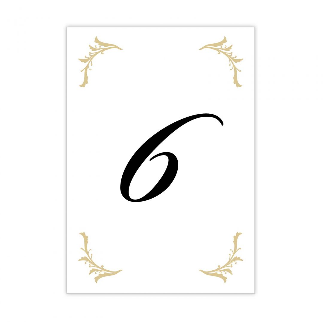 Black Tie Table Number