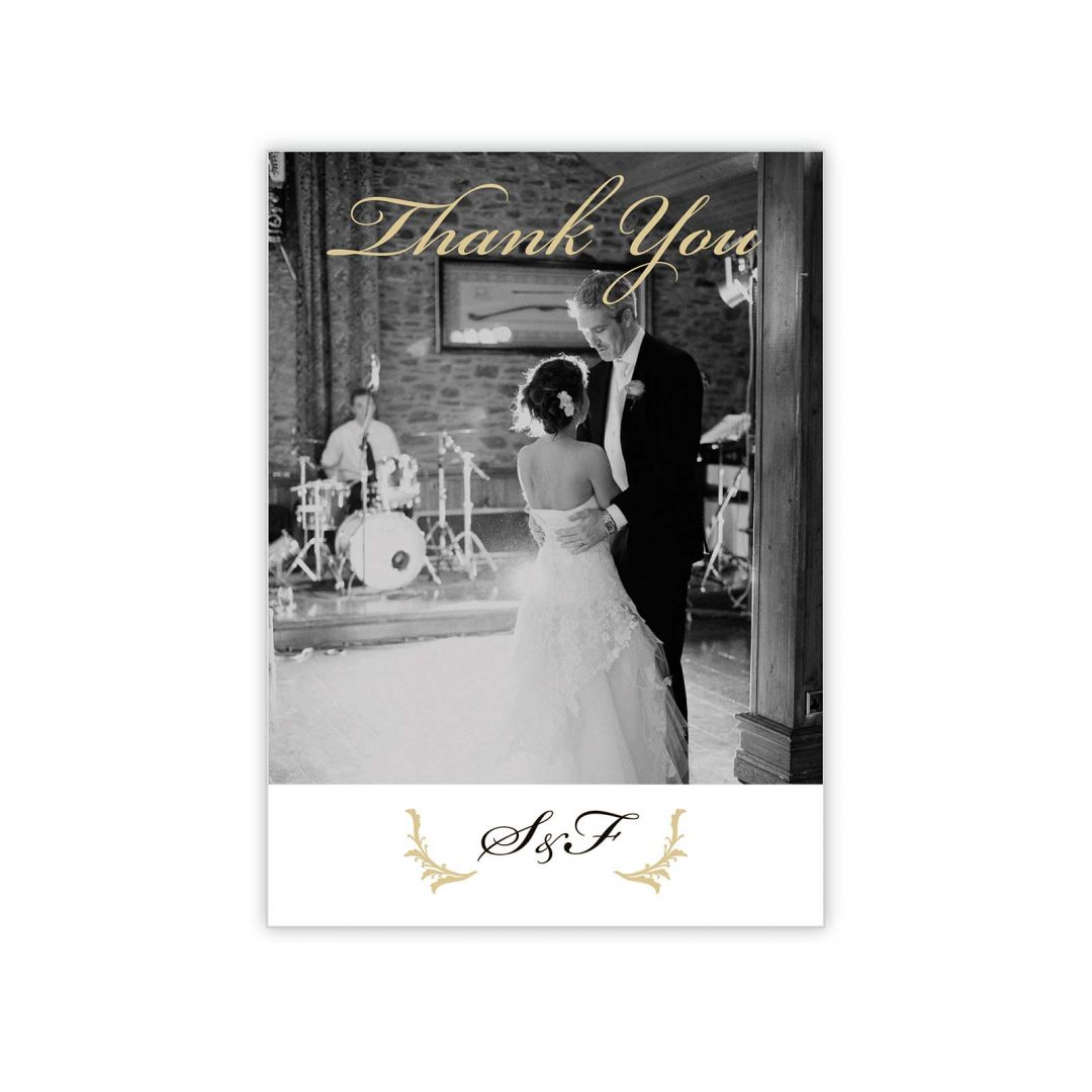 Black Tie Thank You Card
