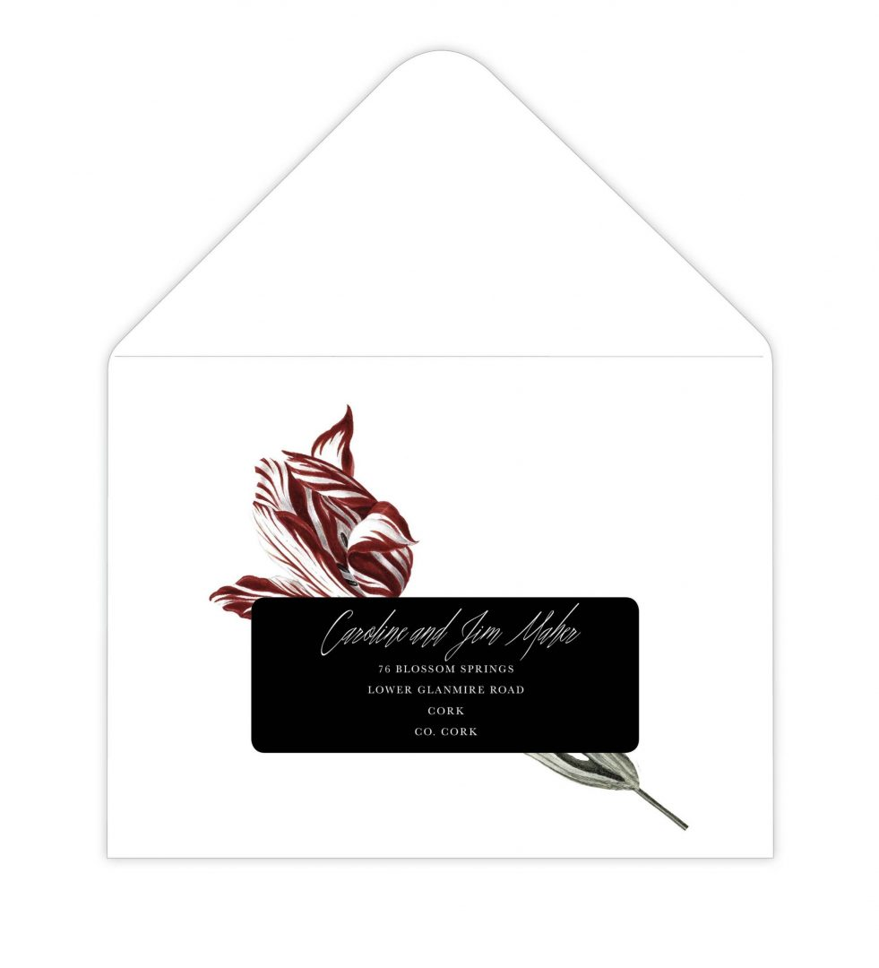 Dark Blooms Envelope Address