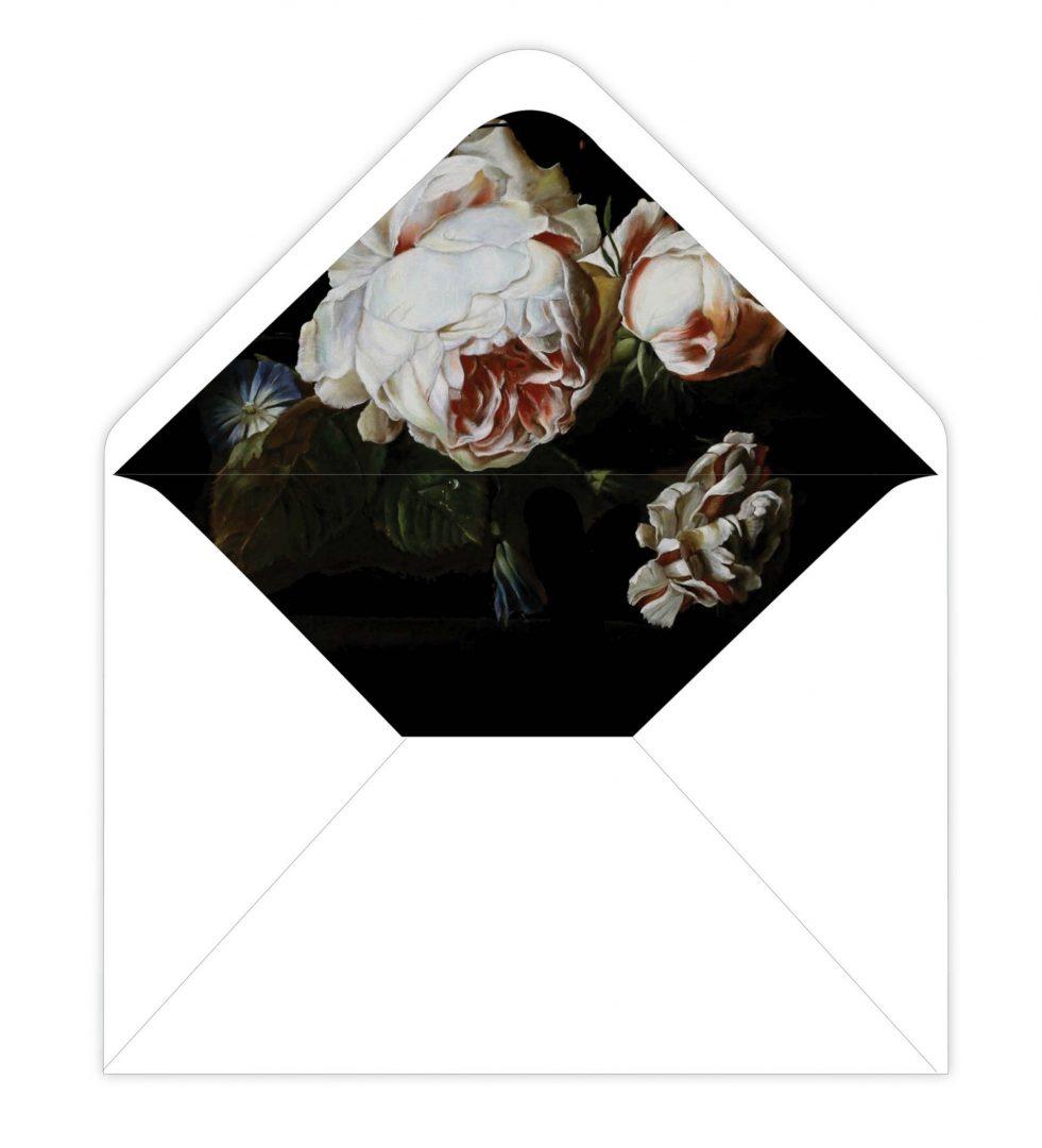 Dark Blooms Envelope Liner