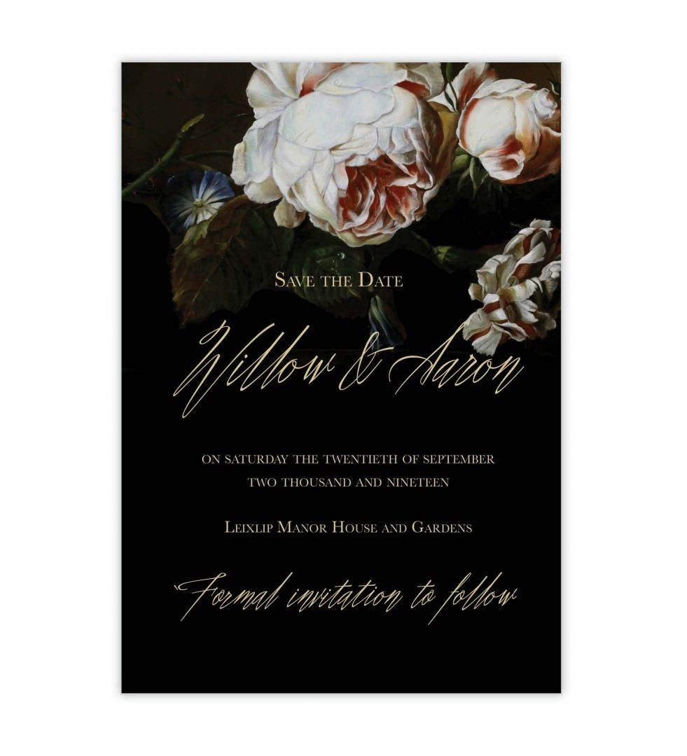 Dark Blooms Save The Date