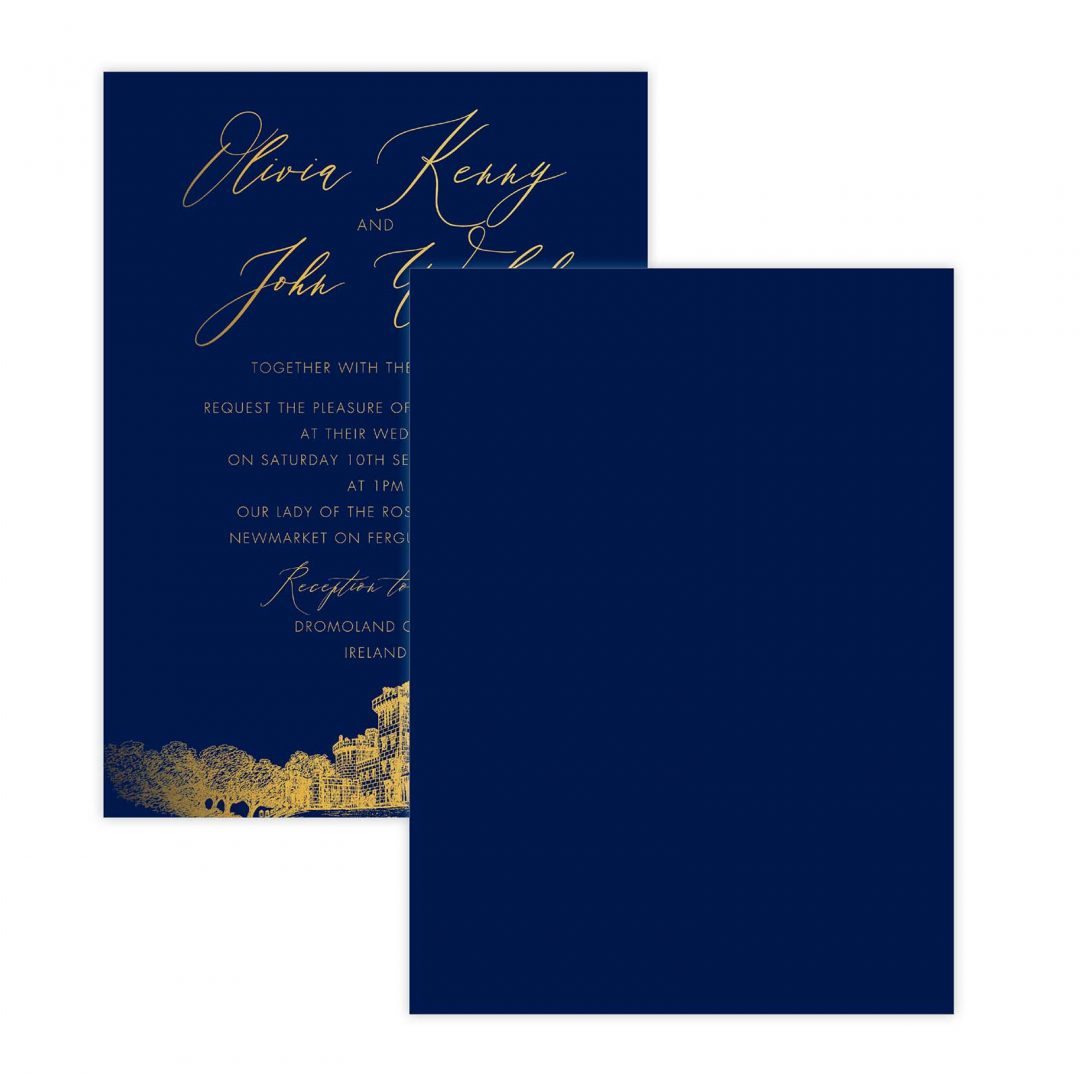 Gold Leaf Invitation Backer