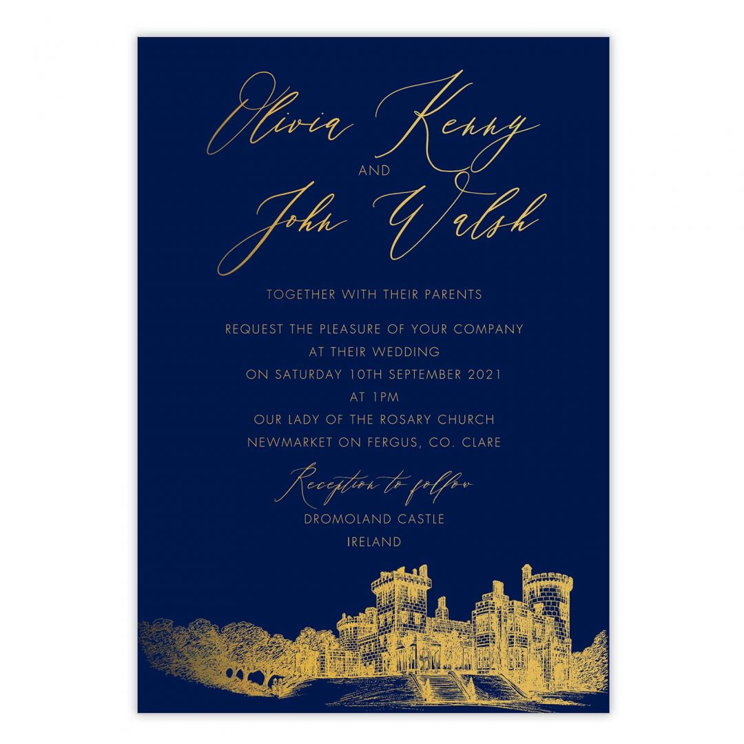 Gold Leaf Invitation