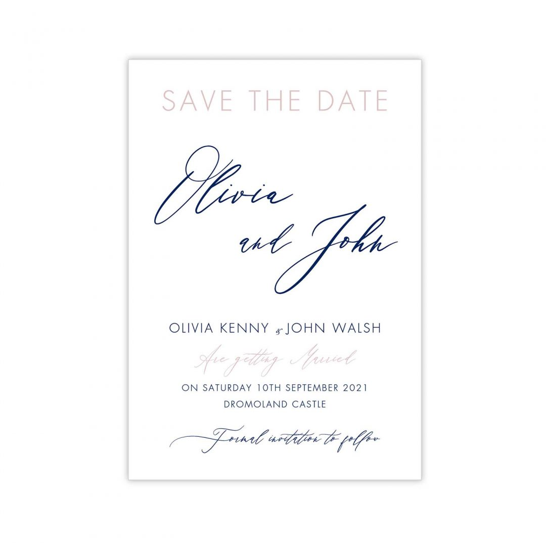 Gold Leaf Save The Date