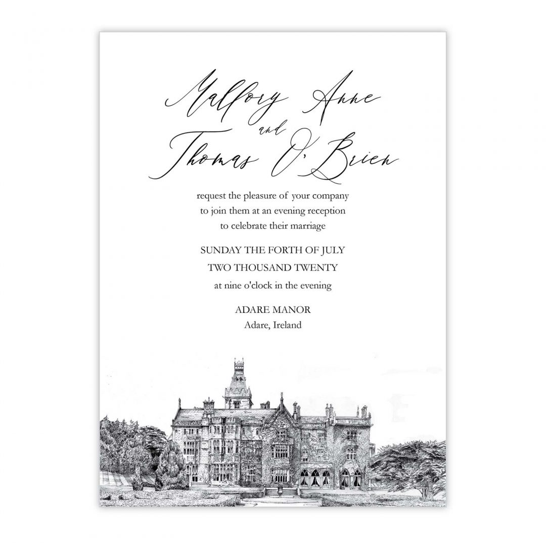 Manor Evening Wedding Invitation