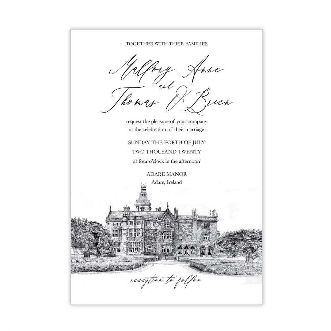 Manor Wedding Invitation