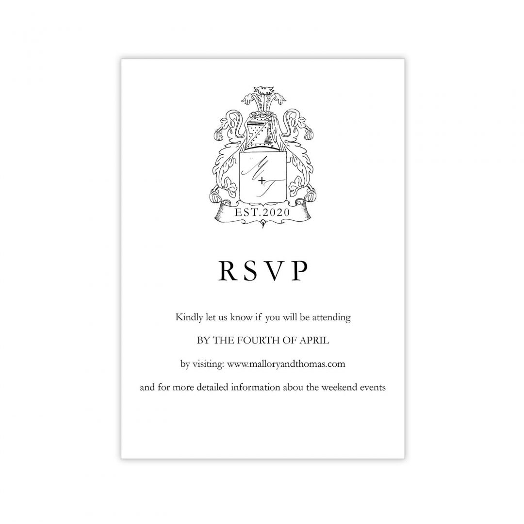 Manor Wedding Rsvp Card