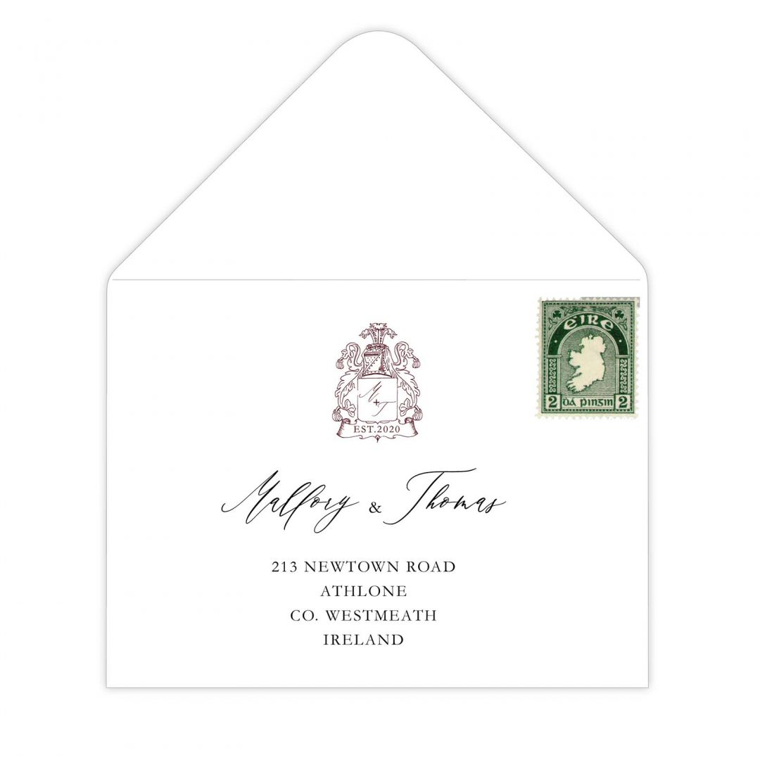 Manor Wedding Rsvp Envelope