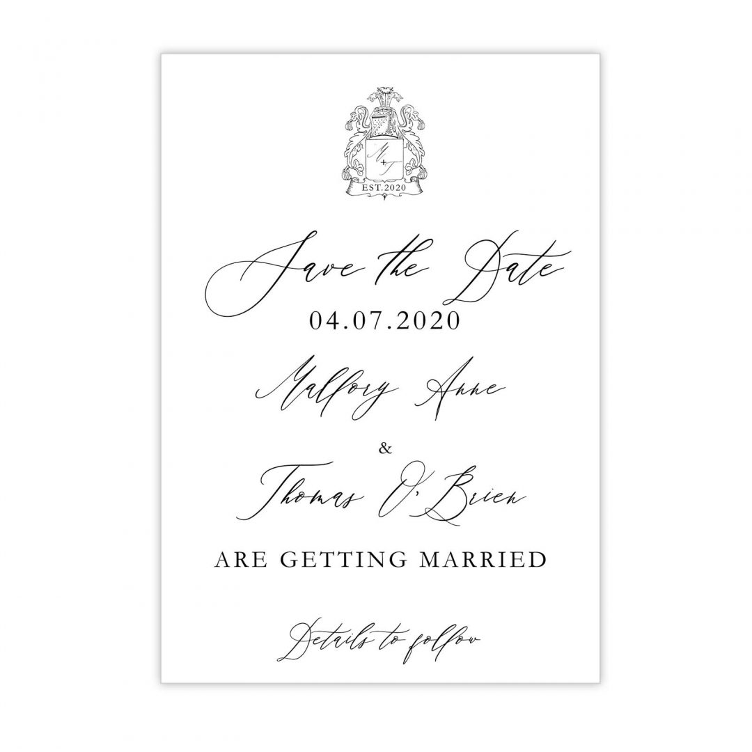 Manor Wedding Save The Date