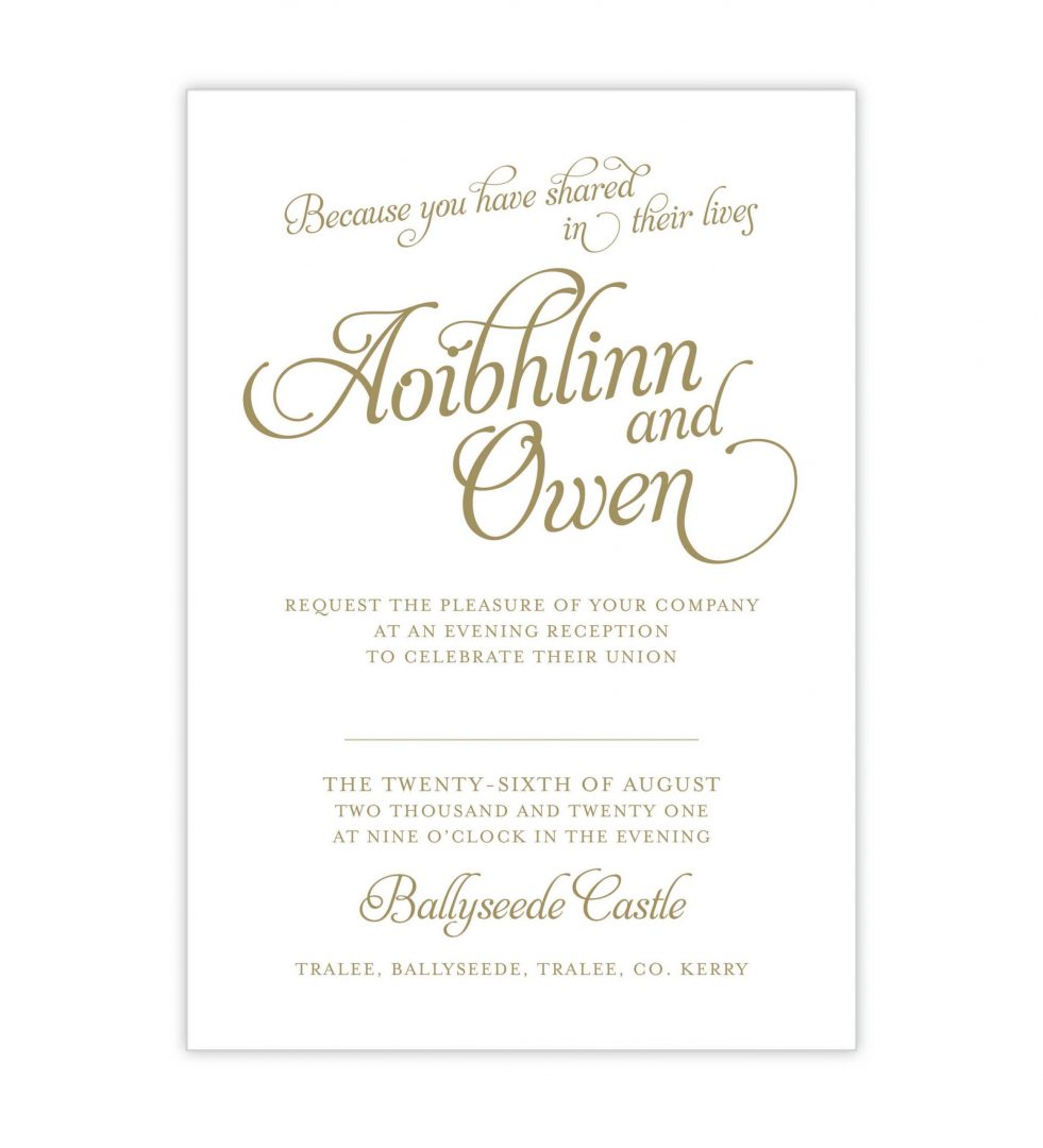 Opulence Evening Invitation