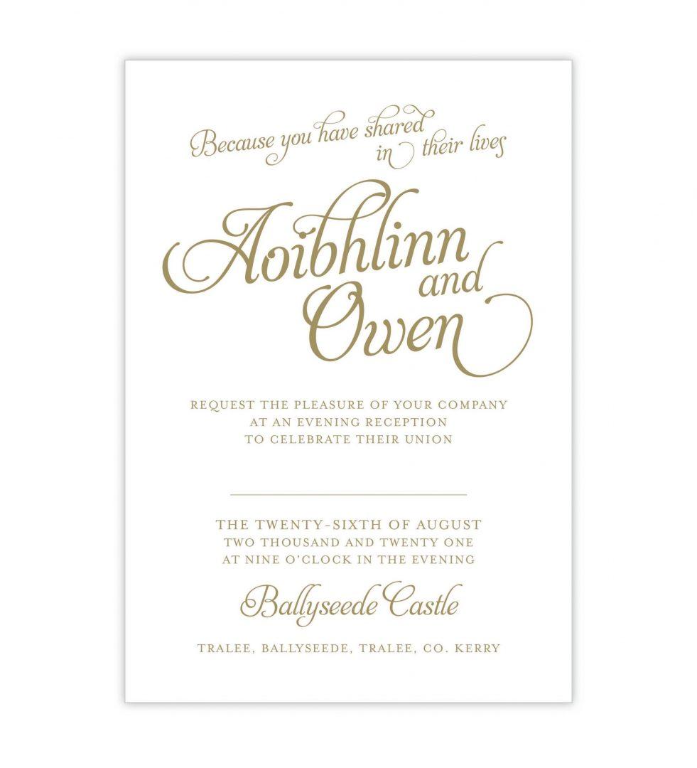 Opulence Evening Invitation
