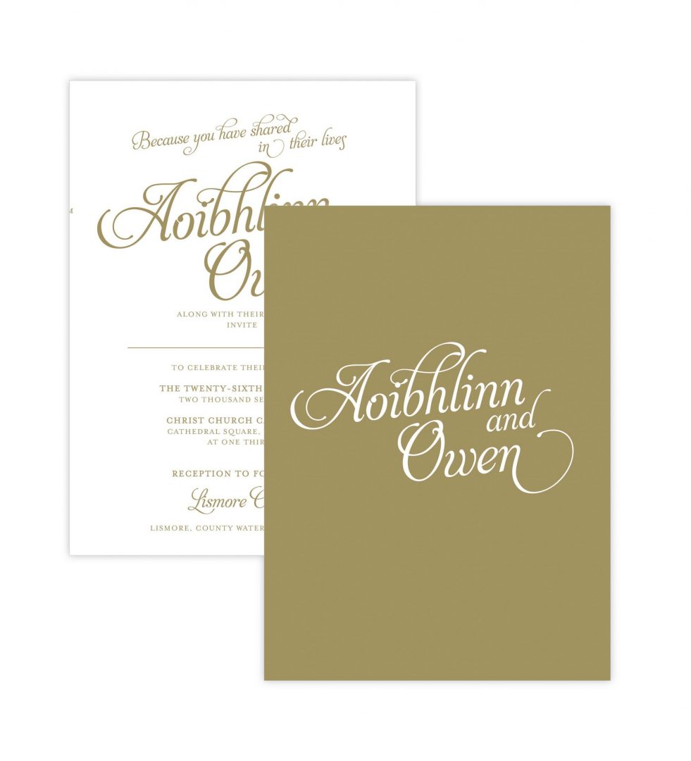 Opulence Invitation Backer