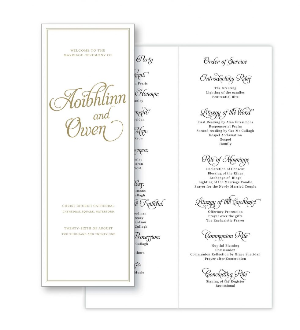 Opulence Order Of Service