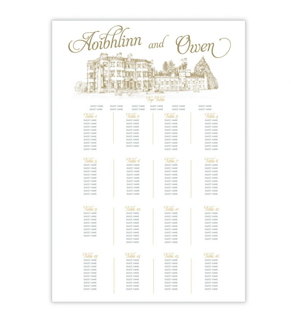Opulence Table Plan