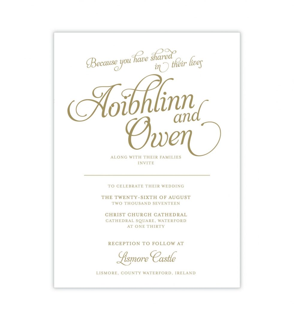 Opulence Wedding Invitation