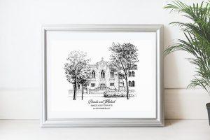 Framed Wedding Venue Print